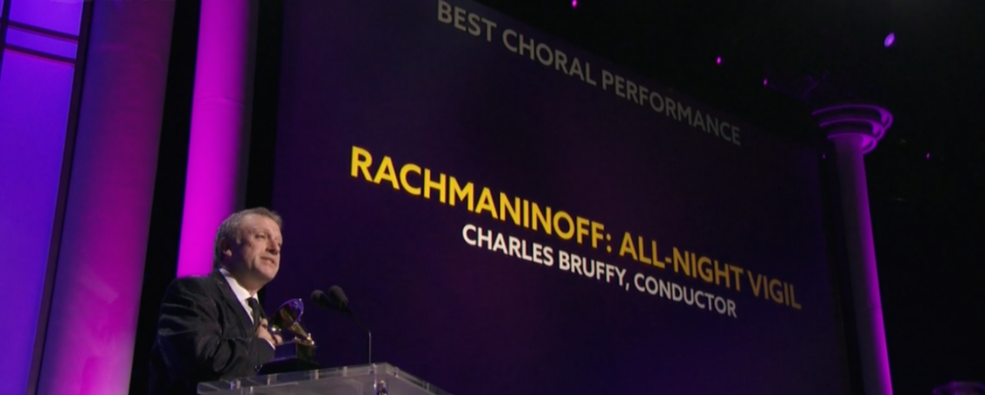 Charles Bruffy wins Best Choral Performance Grammy