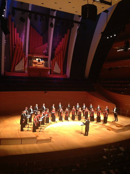 The Kansas City Chorale performs with Jan Kraybill at Helzberg Hall at the Kauffman Center for the Performing Arts