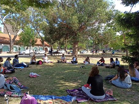 Clase de Proyecto Ocupacional en Parque Rodó