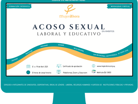 ACOSO SEXUAL en ámbitos LABORAL Y EDUCATIVO - Modalidad intensiva y a distancia