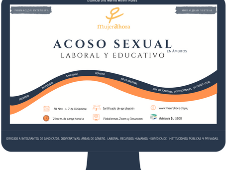 ACOSO SEXUAL en ámbitos LABORAL Y EDUCATIVO - Modalidad a distancia