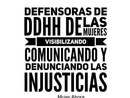 Día Internacional de las Defensoras de Derechos Humanos.