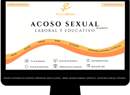ACOSO SEXUAL en ámbitos LABORAL Y EDUCATIVO - Modalidad a distancia