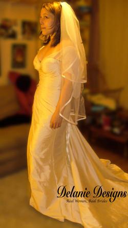 Silk Taffetta Rouched Dress 2
