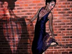 Black Duchess with Striped Organza