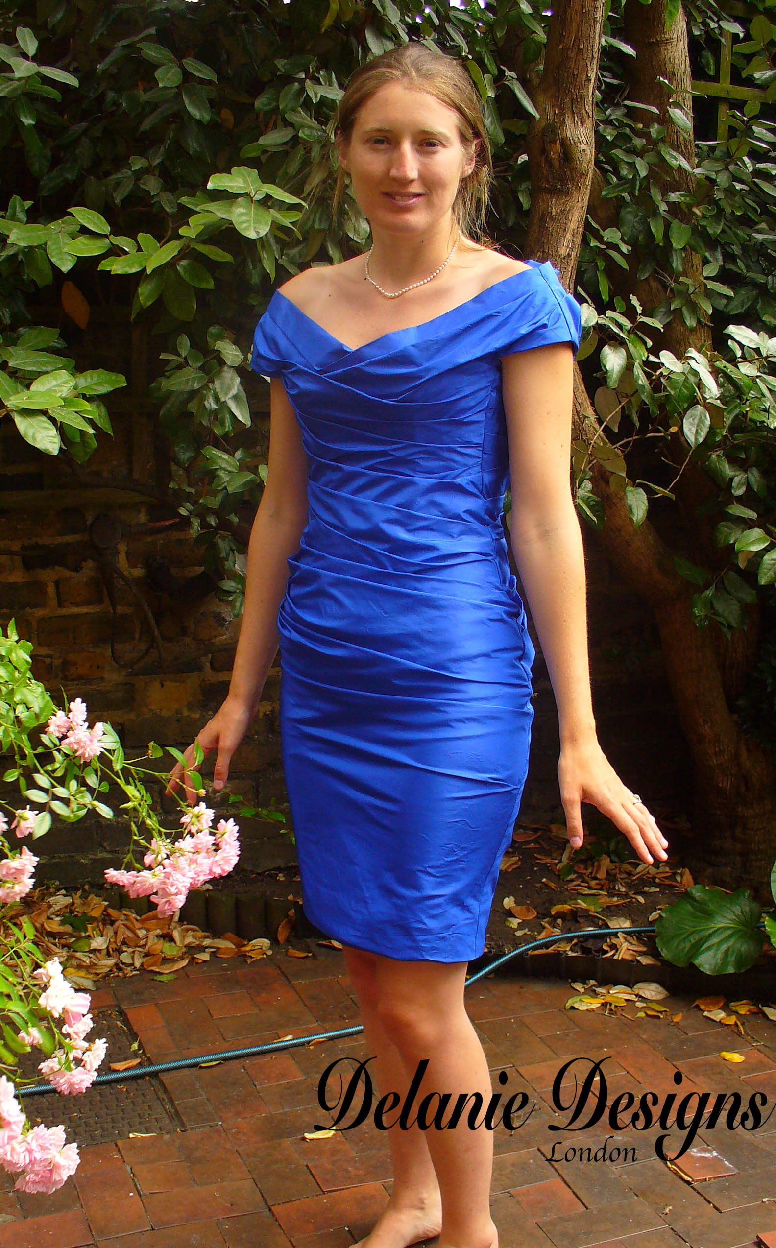 Blue Occasion Rouched Dress