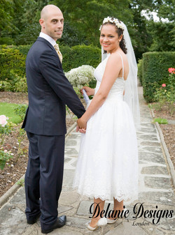 Embroidered Tuile and Muslin Gown
