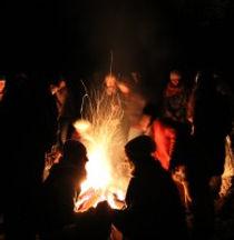 San Gra WinterSonnWende Feuer