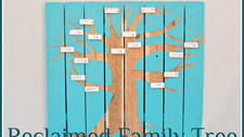 Fence Panel Turned Family Tree