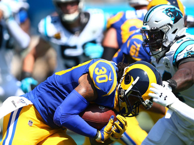 Todd Gurley & Malcolm Brown Rush Over the Panthers