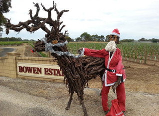 On our way back from Mt Gambier yesterday we spotted Santa leaving Bowen Estate