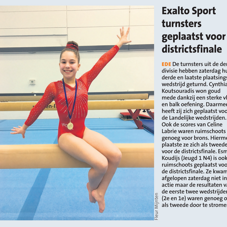 Exalto Sport turnsters in districtfinale