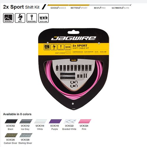 Jagwire 2x Sport Shift Kit