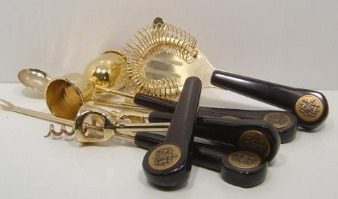Vintage Black and Gold Barware.jpg
