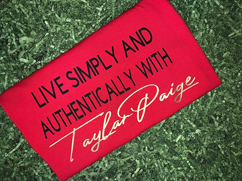 Live Simply - Red