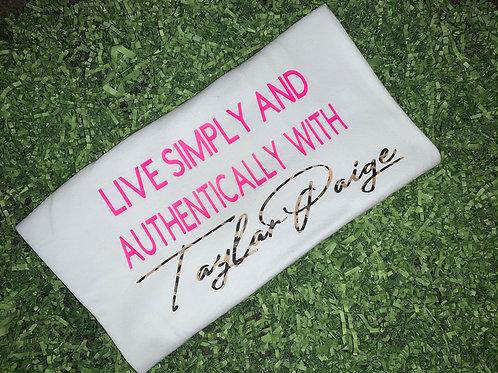 Live Simply - White