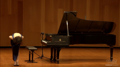 Recital at the Russell/Wanlass Performance Hall at Utah State University 3/8/2021