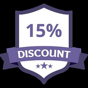 15% Discount Purple