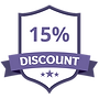 15% Discount Purple