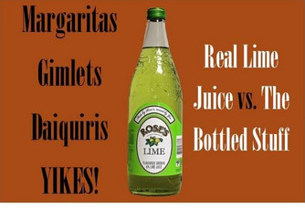 Fresh Lime Juice vs. The Bottled Stuff