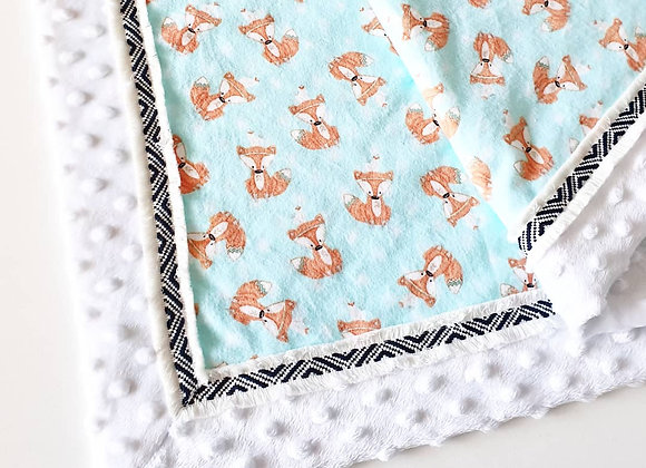 Tribal Fox Baby Blanket
