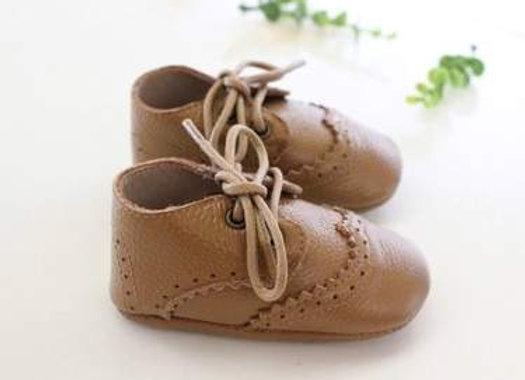 Vita Leather Tan Lace Shoes