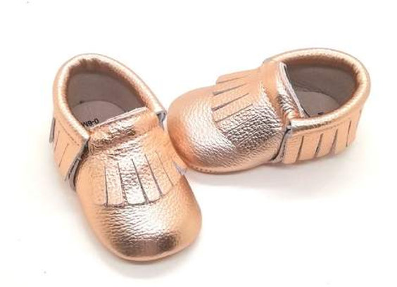 Lore Rose Gold  Leather Shoes