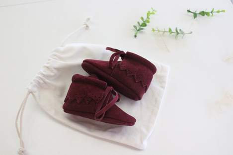 Kele Suede Boot Maroon size 0/6m