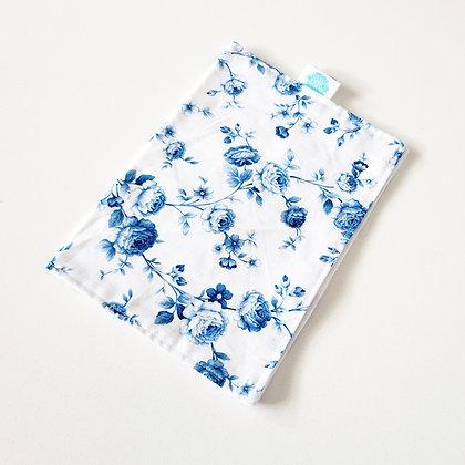 Walandella Designs Vintage Flowers In Blue Burp Cloth