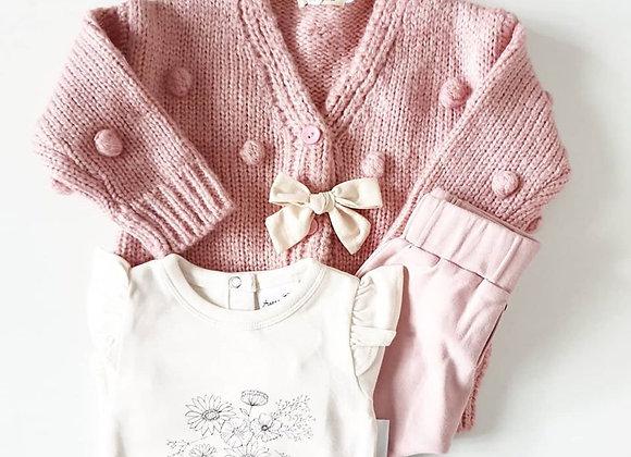 Oversized Dusty Pink Cardigan