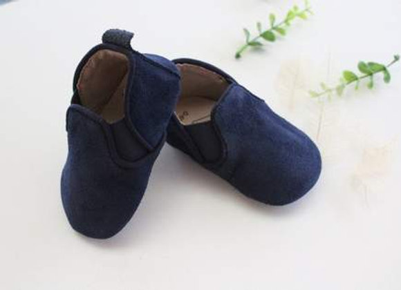 Reign Suede Navy Shoes size 6/12m