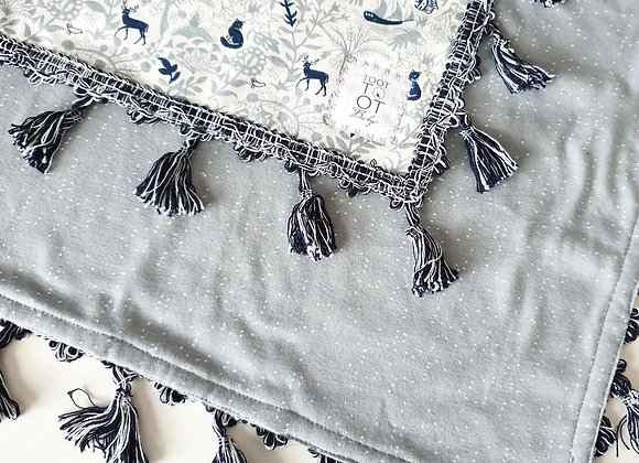 Enchanted Forest Cotton Jersey Blanket