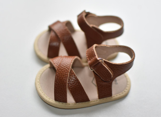 Reed Leather Sandal Brown 0/6m