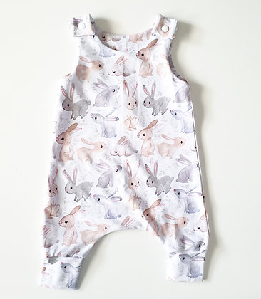 Walandella Designs White Bunny Love LL Rompers