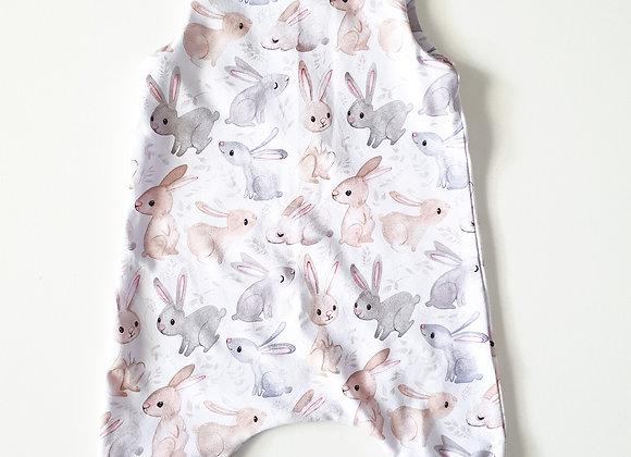 Walandella Designs White Bunny Love LL Rompers