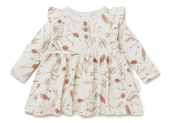 Aster & Oak Native Flora Skater Dress 2yrs