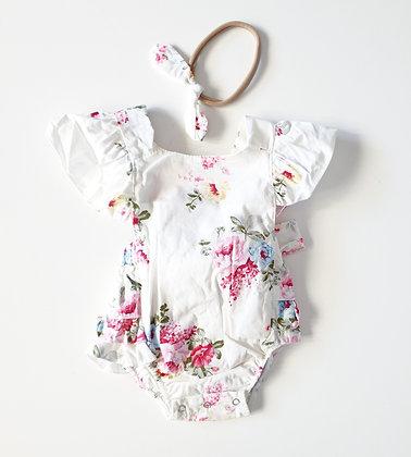 Toottoot Baby Flower Ruffle Romper