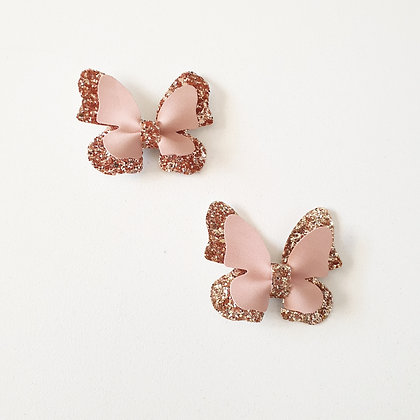 Autumn Butterfly Bow clips