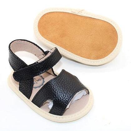Tulli Leather Sandal Black 0/6m