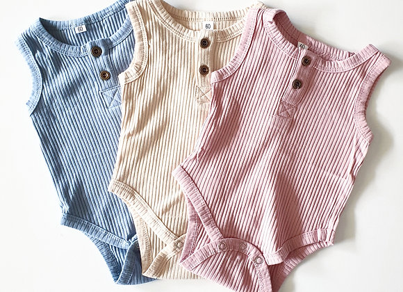 Toottoot Baby Ribbed Short Sleeve Bodysuits
