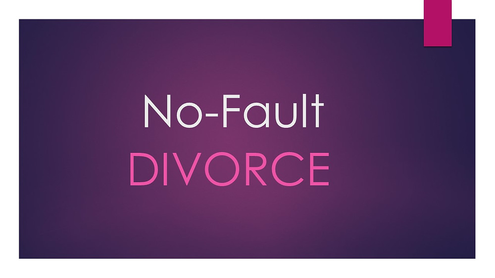 What is a Massachusetts no-fault divorce?