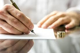 Signing your negotiated Separation Agreement.