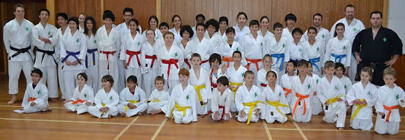 Karate school class photo