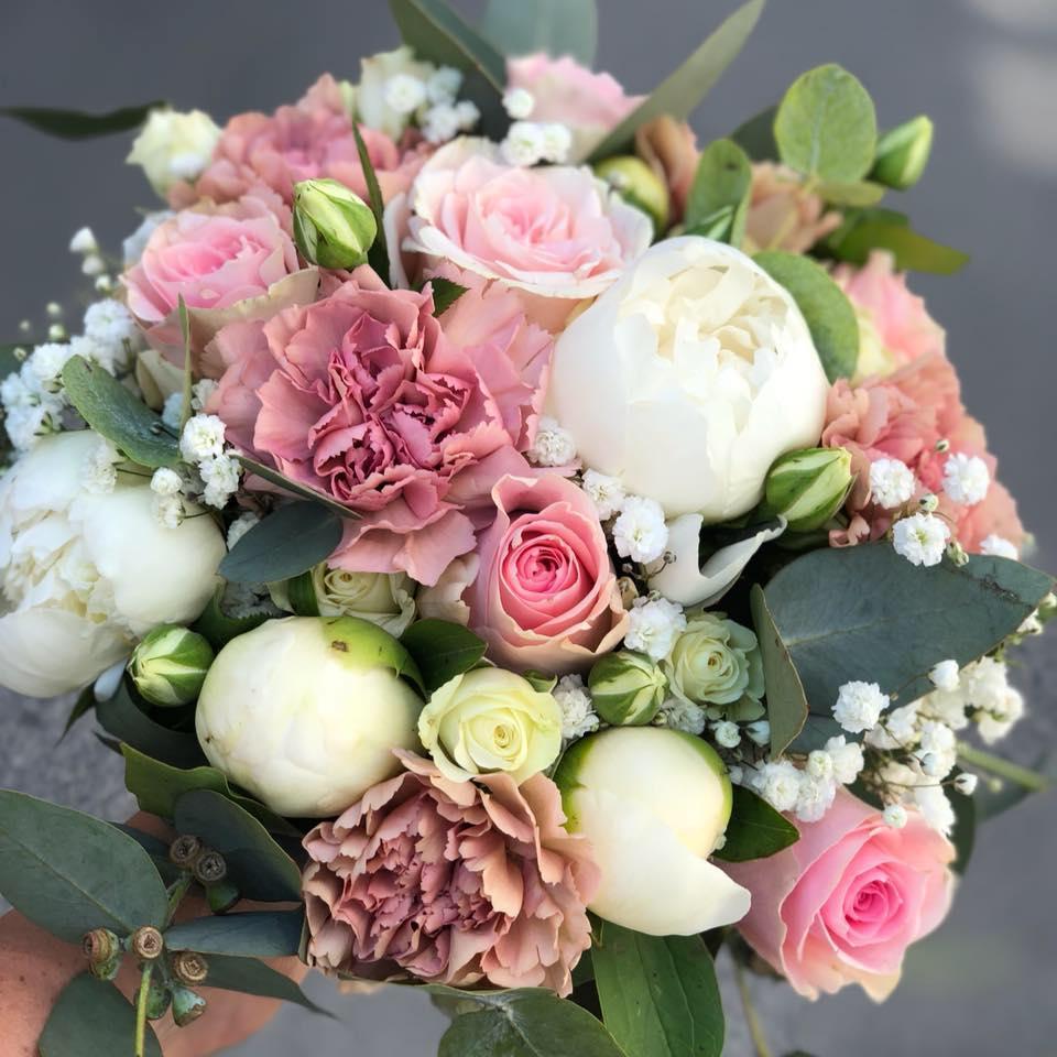 Rosa brudebukett