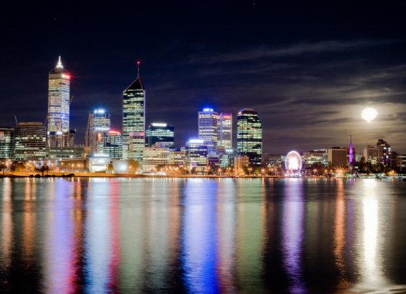 Perth City Lights, Western Australia.