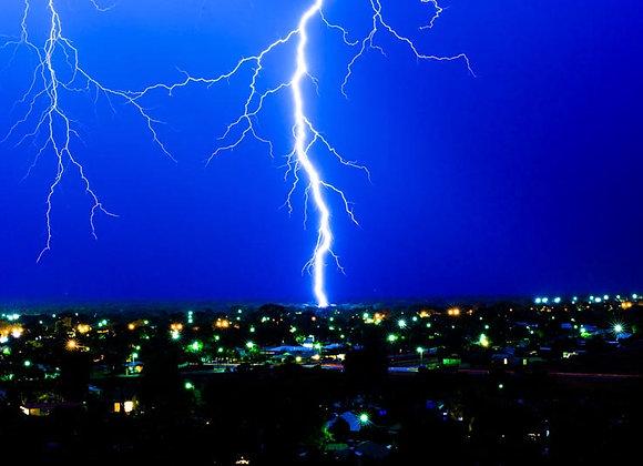 Lightning Strike Kalgoorlie, Western Australia.