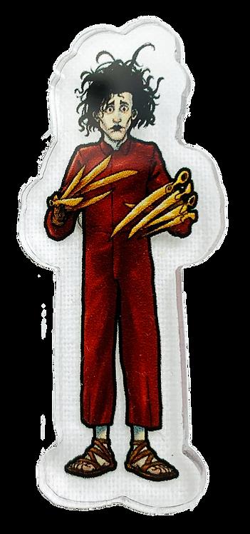 Red Ed Acrylic Pin