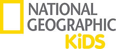 White background with a yellow rectangle at the left, with the word 'NATIONAL' and 'GEOGRAPHIC' in grey next to the rectangle on top of one another. The word 'KiDS' in yellow underneath these.