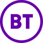 Purple circle with the words 'BT' in purple in the middle.