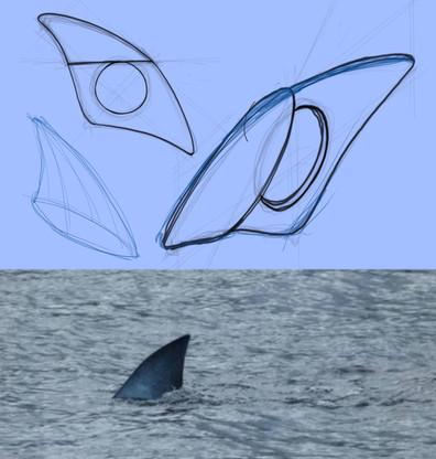 sketch marca página tubarão